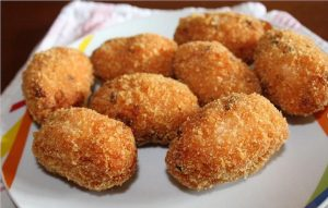 Red suppli: Casa Sapori's recipe.